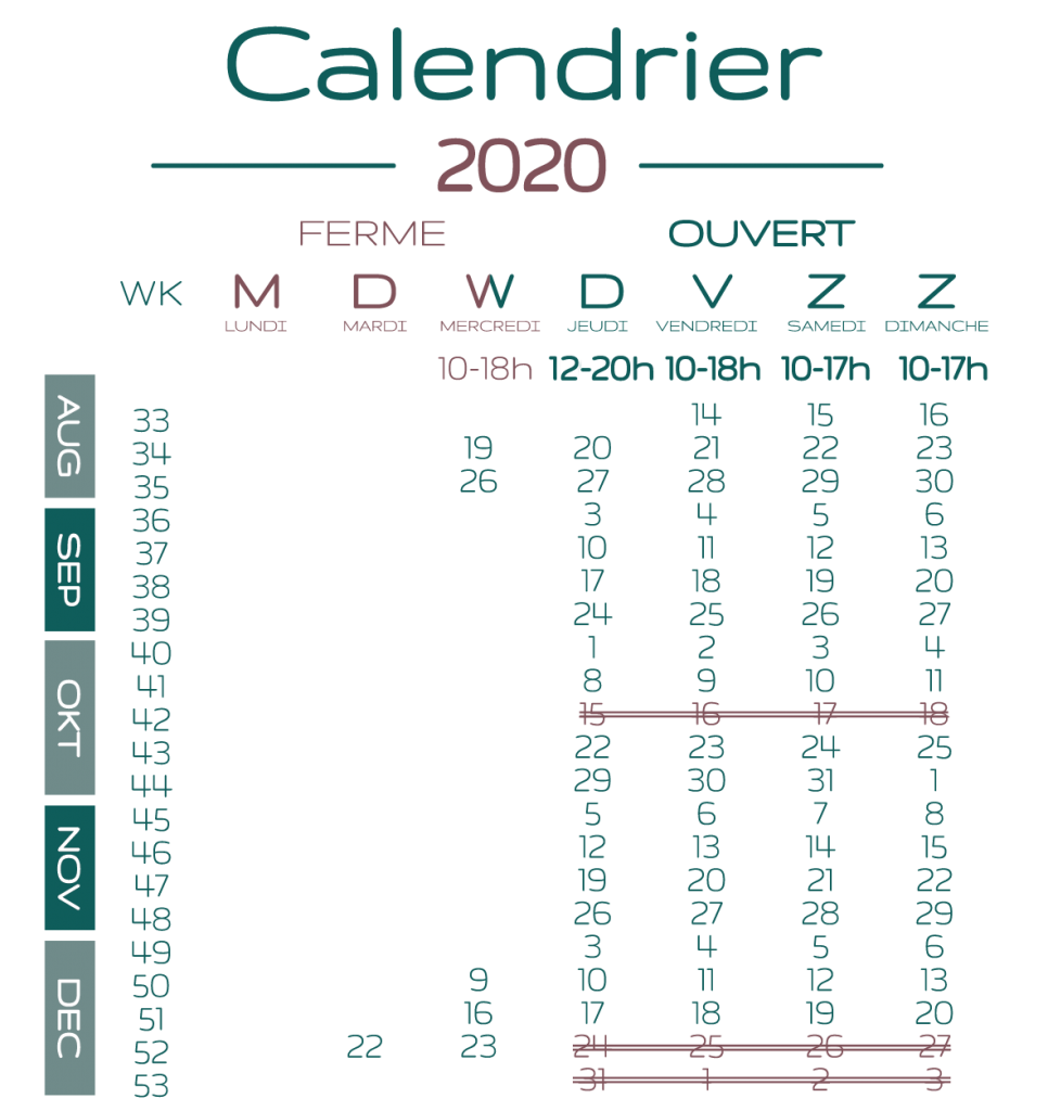 Estinēe — jaarkalender 2020 — www.estinee.com — Haarlem, The Netherlands -